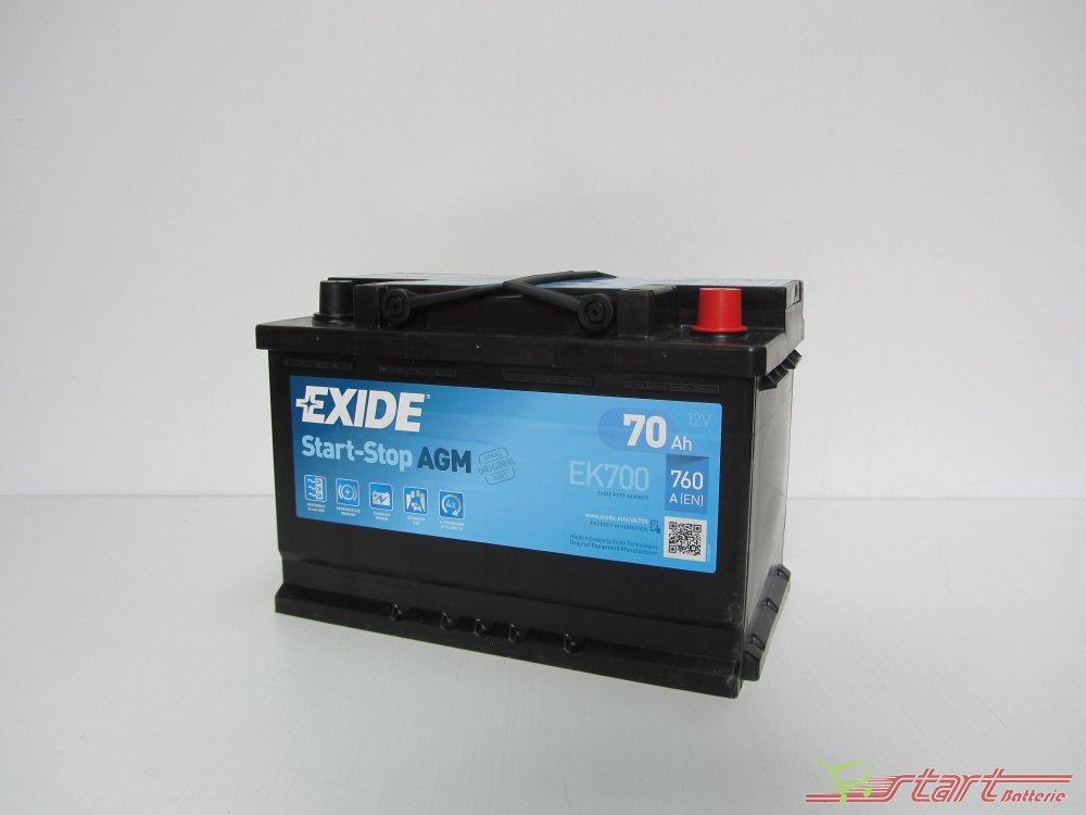 exide ek700 agm 12v 70ah 760a en l3 start stop batterie auto start batterie shop. Black Bedroom Furniture Sets. Home Design Ideas