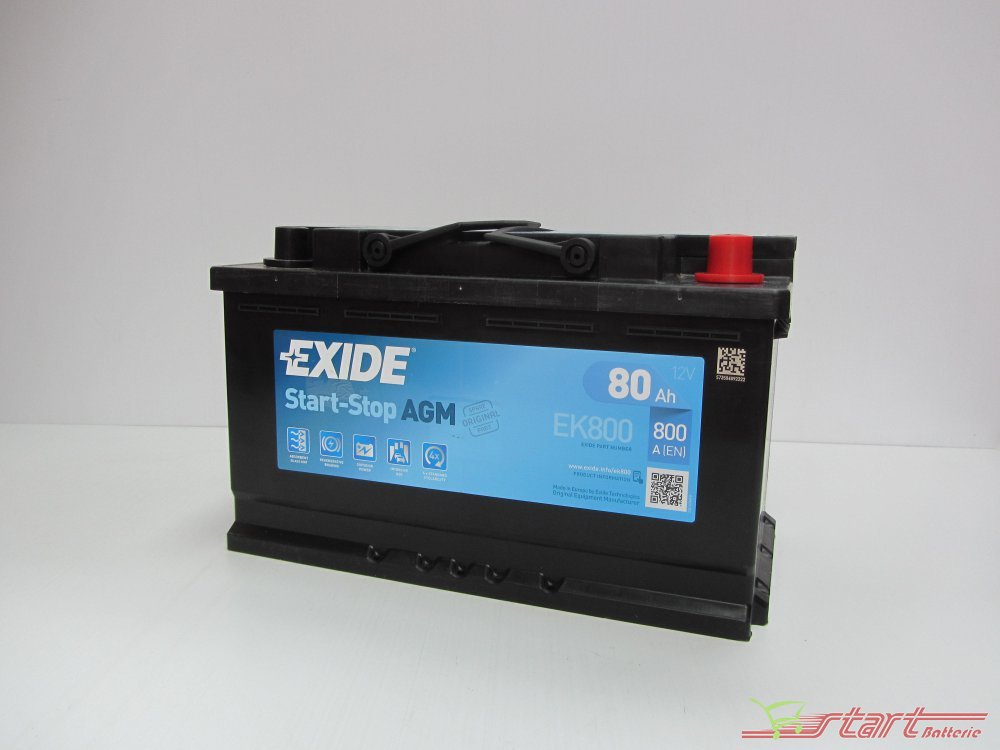 exide ek 800 12v 80ah 800a en l4 start stop batterie auto start batterie shop. Black Bedroom Furniture Sets. Home Design Ideas
